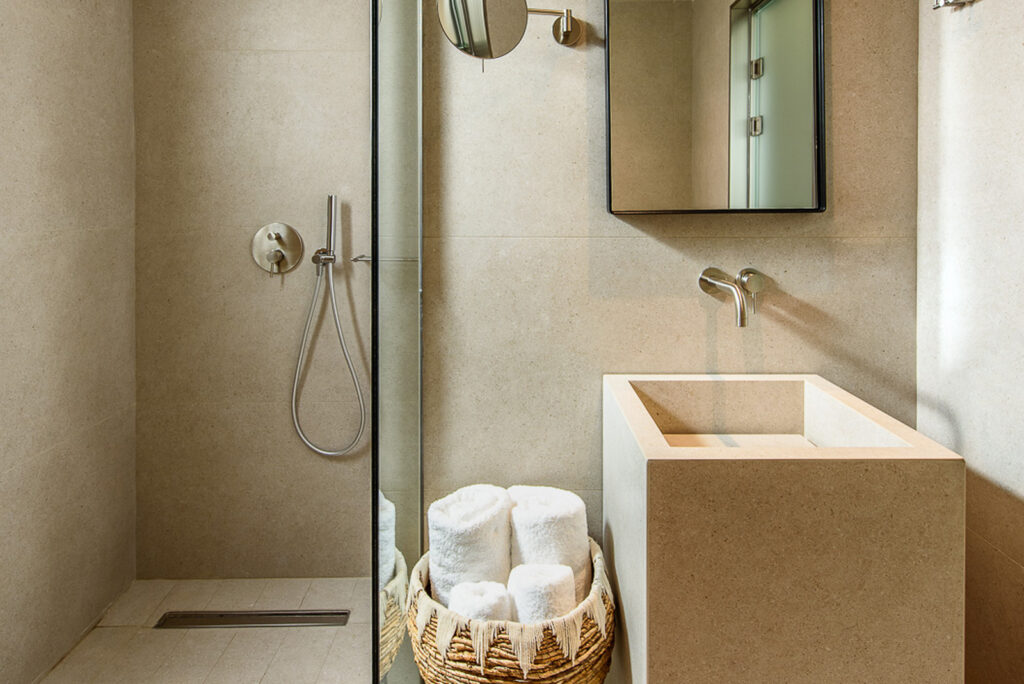 Shower  by DOM Boutique Hotel