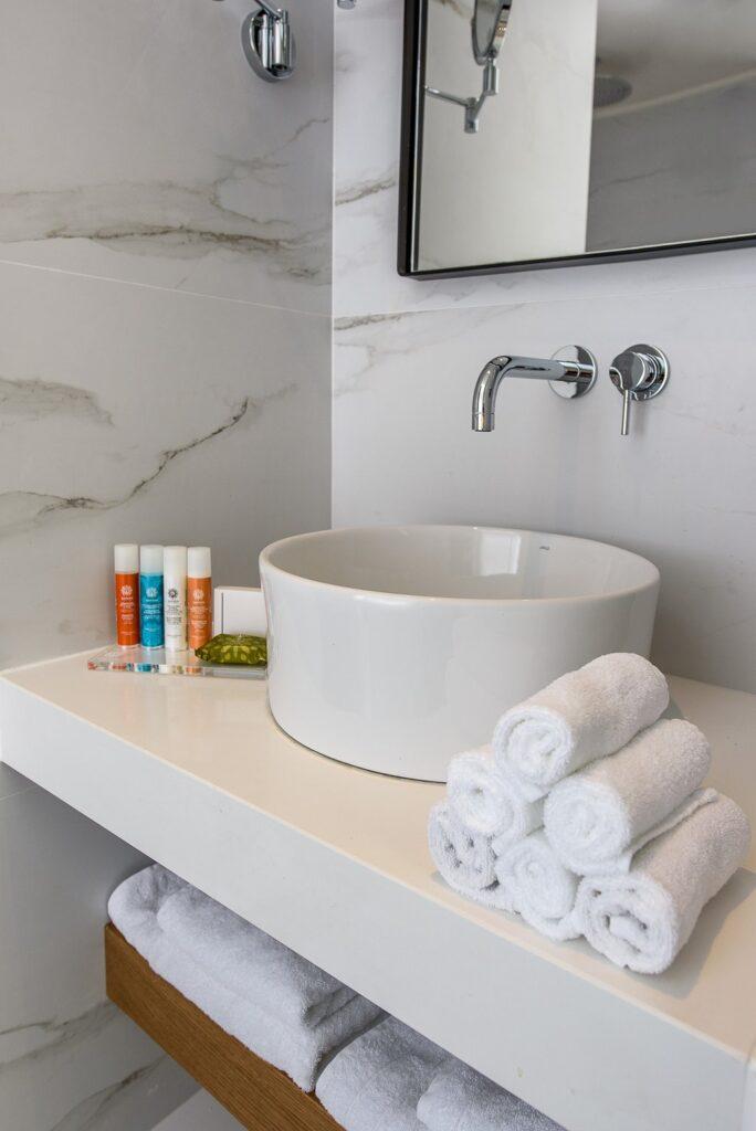 Modern washbasin by Dom Hotel